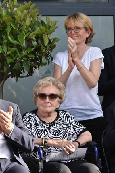 Accompagnée de sa fille Claude à l'inauguration de la rue Jacques et Bernadette Chirac à Brive-la-Gaillarde en 2018