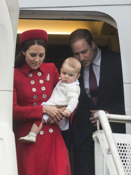 Quand le prince William et Kate Middleton ont pris l'avion avec George