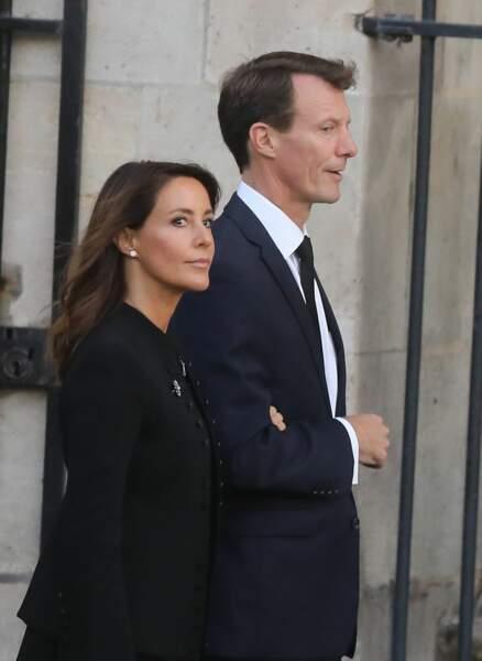 Marie et Joachim du Danemark aux obsèques de Jacques Chirac, en l'église Saint-Sulpice, à Paris, le 30.09.2019