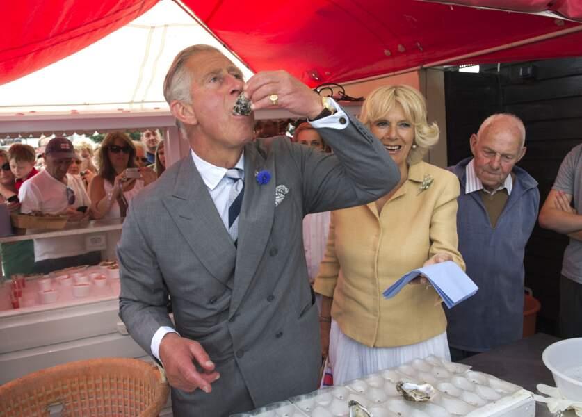 Quand le prince Charles a dégusté des huîtres