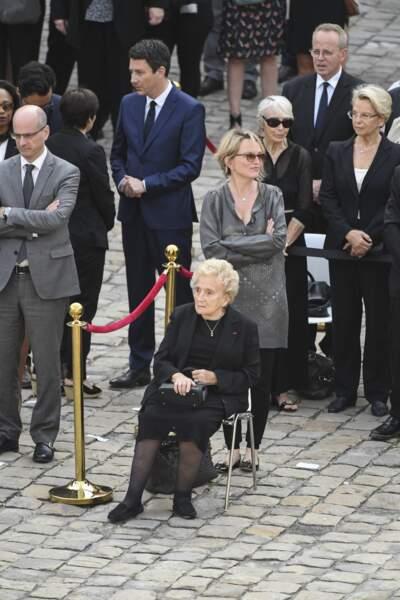 Bernadette et Claude Chirac lors de l'hommage national à Simone Veil aux Invalides, en 2017