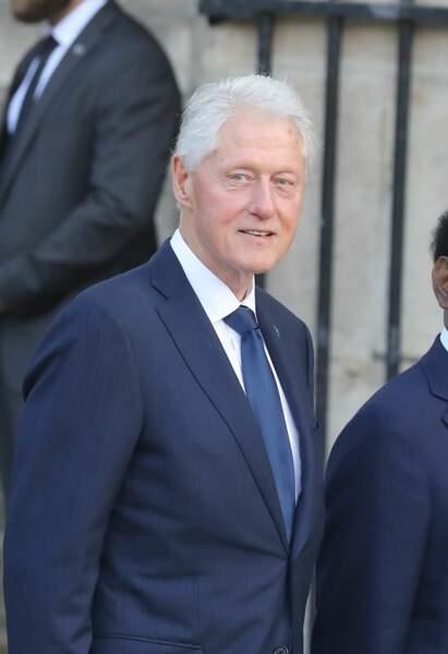 Bill Clinton aux obsèques de Jacques Chirac, en l'église Saint-Sulpice, à Paris, le 30 septembre 2019.