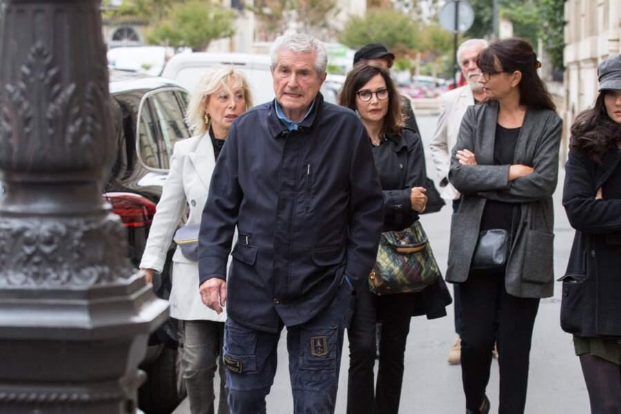 Claude Lelouch était également présent aux obsèques de Charles Gérard