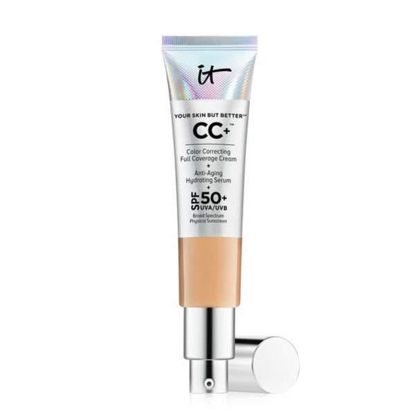 Une texture très couvrante mais très souple et soignante, CC+ It Cosmetics chez Nocibé (39€)