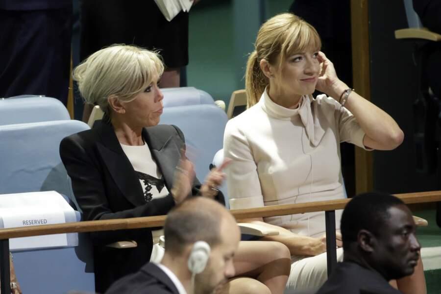 Brigitte Macron assiste au discours d'Emmanuel Macron à l'ONU mardi 19 septembre