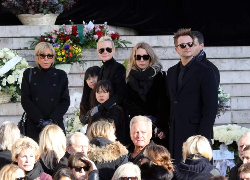 Convoi funéraire de Johnny Hallyday à la Madeleine : Laeticia, Jade, Joy Hallyday, Laura Smet, David Hallyday