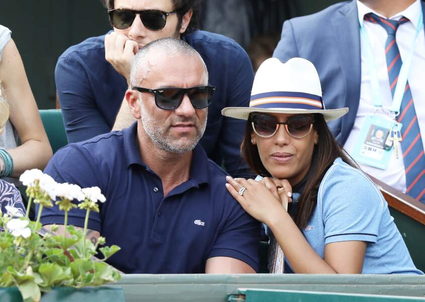 Amel Bent et son mari Patrick Antonelli à Roland-Garros
