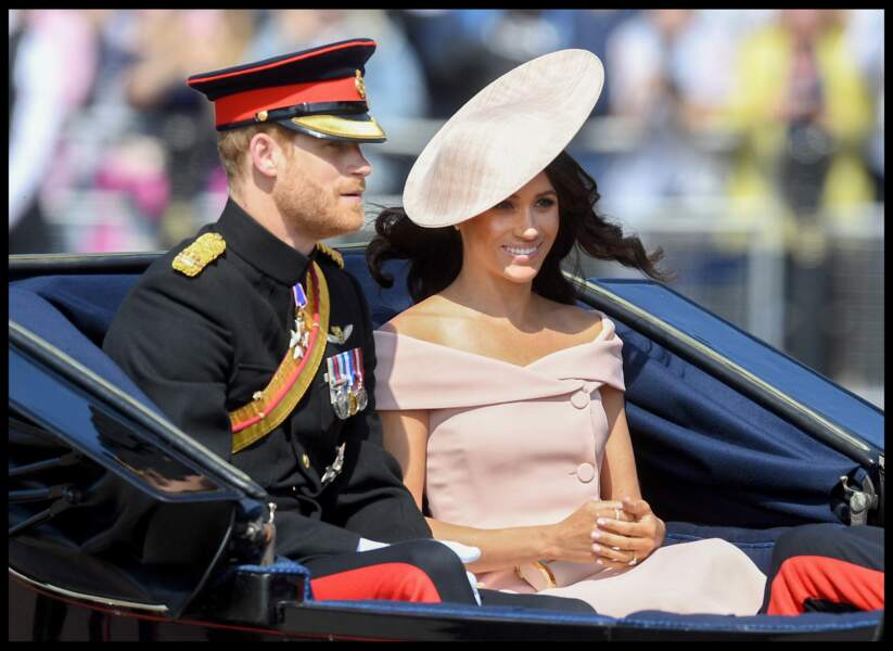 Meghan Markle et le prince Harry pour le Trooping the Colour