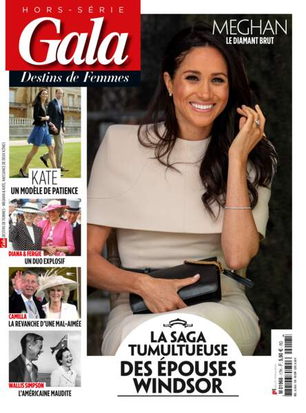 """Retrouvez en kiosque notre hors-série """"Gala-Destins de femmes: la saga tumultueuse des épouses Windsor""""."""