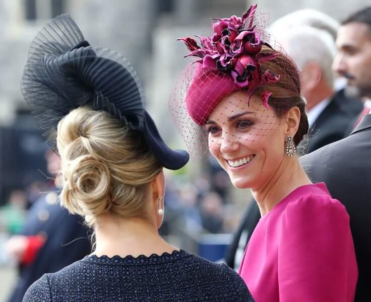 """Kate Middleton ravissante en robe """"framboise """""""