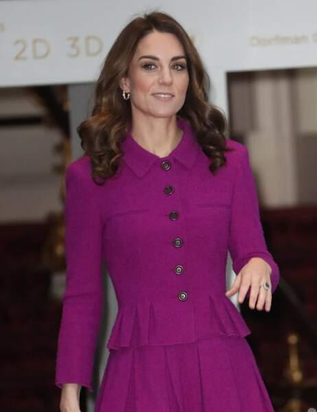 Kate Middleton sublime dans son ensemble Oscar de la Renta au Royal Opera House le 16 janvier 2019