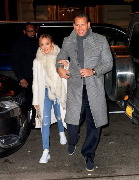 Jennifer Lopez et Alex Rodriguez, soirée en amoureux