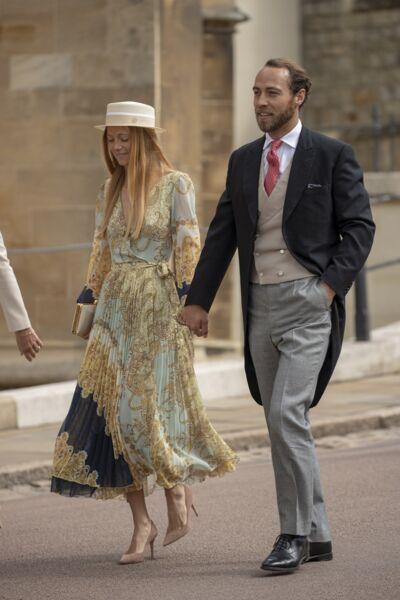 Bestimage Alizée Thévenet et James Middleton au mariage de Gabriella Windsor,  à Londres, le 18 mai 2019.