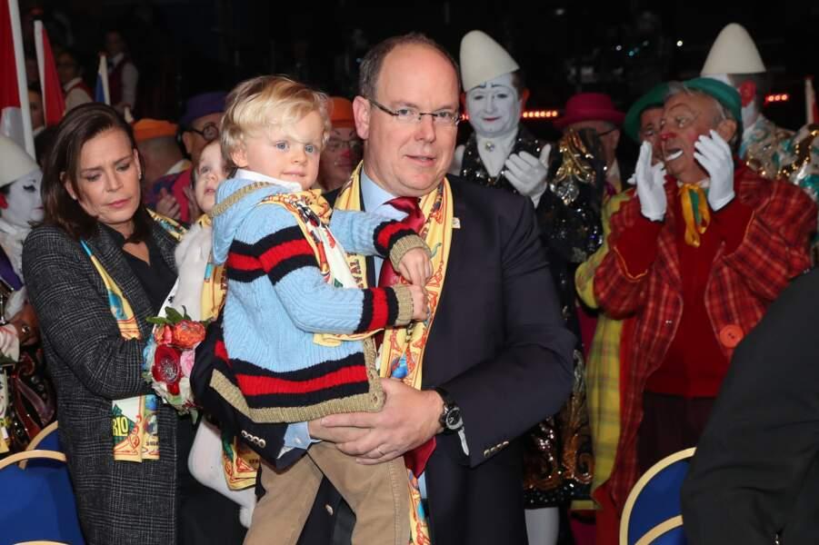 Jacques dans les bras de son papa le 21 janvier 2018.