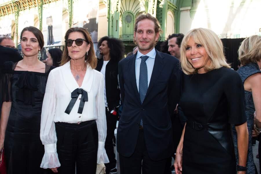 Charlotte Casiraghi, Caroline de Monaco, Andrea Casiraghi et Brigitte Macron