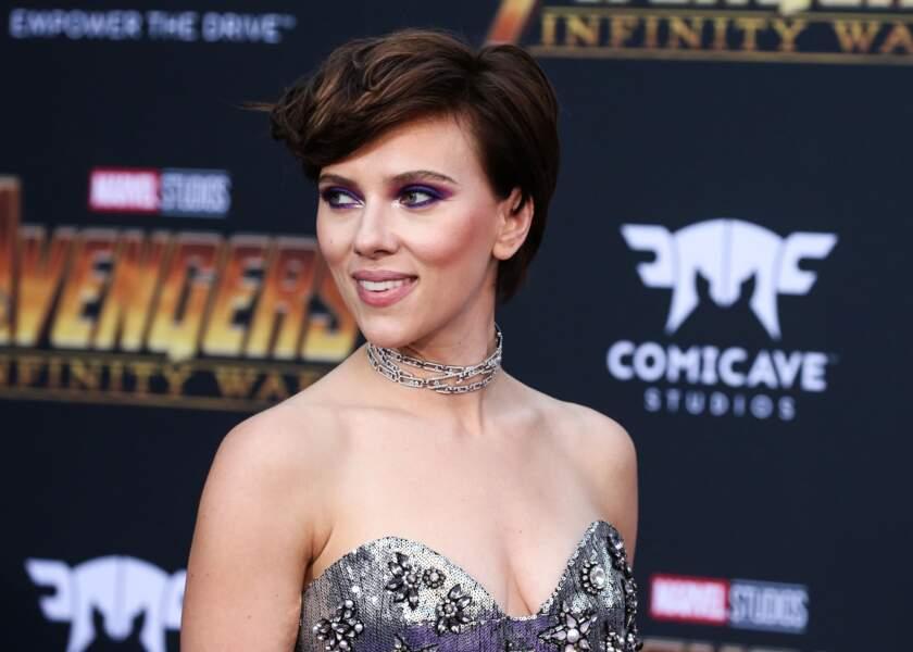 La coupe courte glamour de Scarlett Johansson
