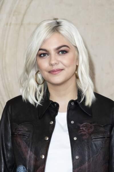 Louane Emera en février 2019 créée la surprise avec un blond polaire presque blanc