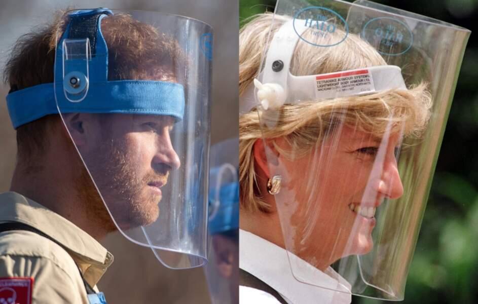 Visite d'un champ de mines : Le prince Harry en 2019, Lady Di en 1997