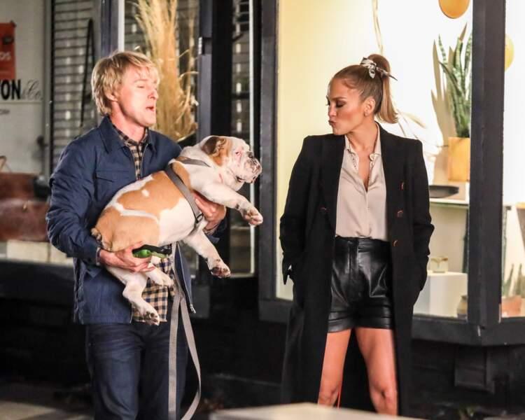 Sur ces images du tournage, Jennifer Lopez et Owen Wilson ont l'air particulièrement complices...