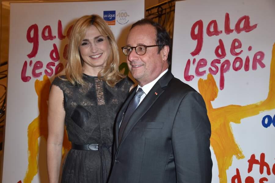 Julie Gayet et François Hollande, complices et tout sourire
