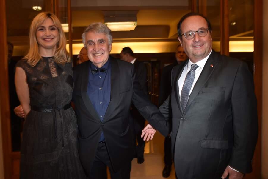 La bonne humeur était au rendez-vous pour Julie Gayet et François Hollande