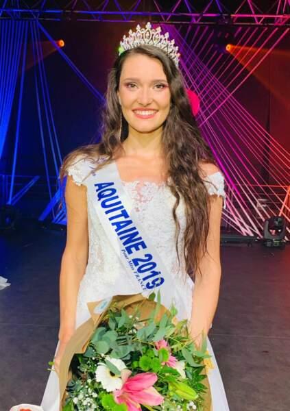 Justine Delmas élue Miss Aquitaine 2019 pour Miss France 2020 !