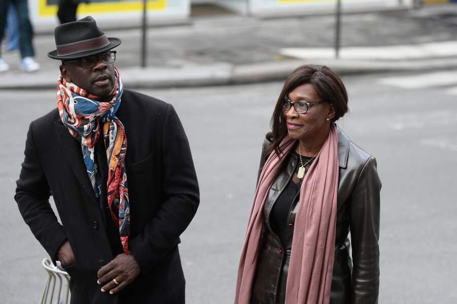 Lilian Thuram et sa femme ont également tenu à assister aux obsèques de Jean-Michel Martial
