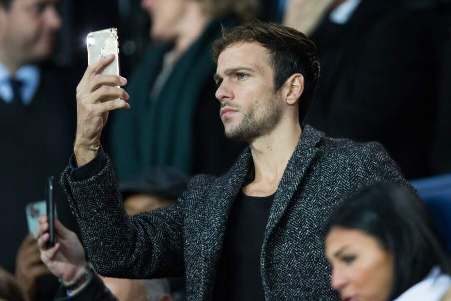 """Hugo Philip, concentré sur le match lors du """"classico"""" PSG-OM, au Parc des Princes, le 27 octobre 2019."""