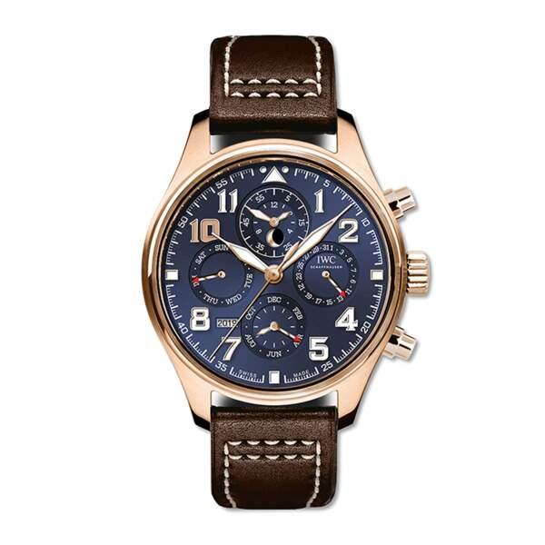 Montre Aviateur calendrier perpétuel chronophage, IWC