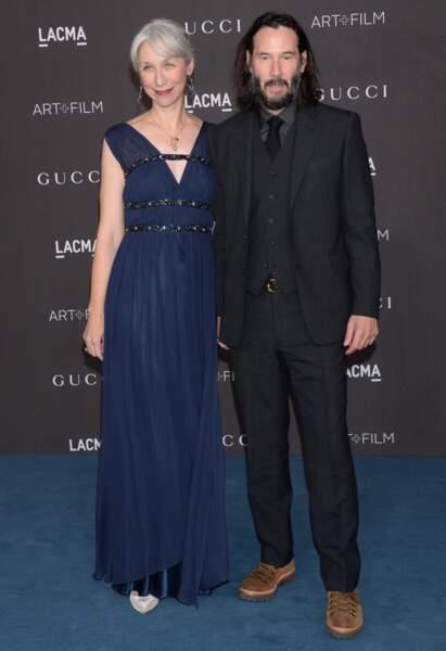 Keanu Reeves est apparu pour la première fois avec Alexandra Grant sur le tapis rouge du Gala LACMA Art + Film ce samedi 2 novembre