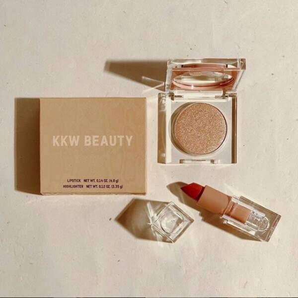 KKW Beauty ce sont des parfums mais aussi une gamme de make-up qui fait place belle au nude
