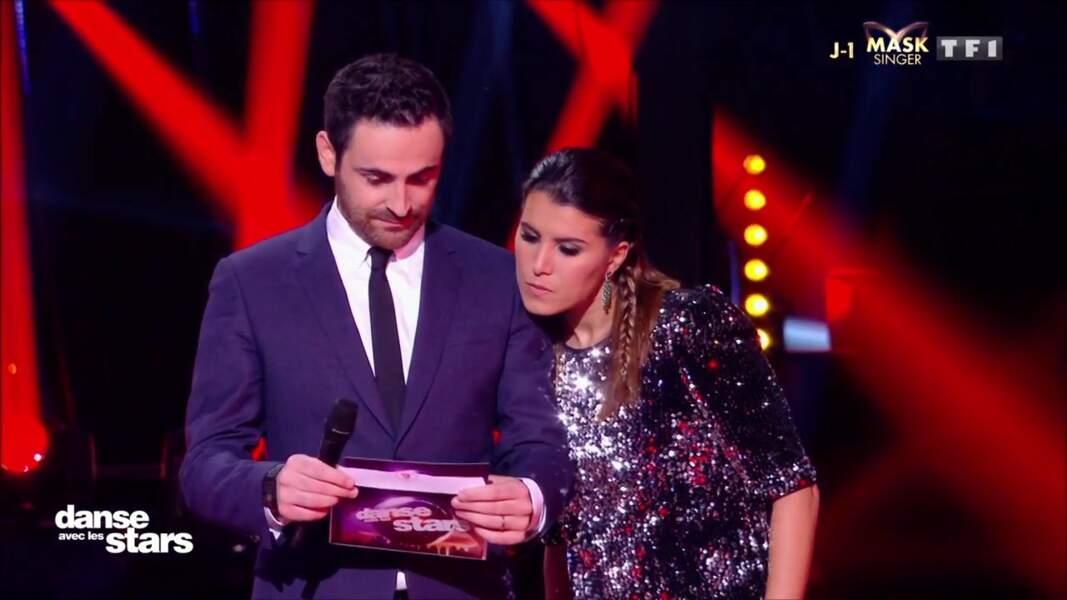 Karine Ferri aux côtés de Camille Combal sur le plateau de Danse avec les stars ce jeudi 7 novembre