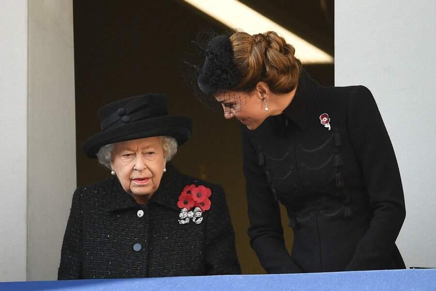 Kate Middleton quant à elle était sur le balcon principal