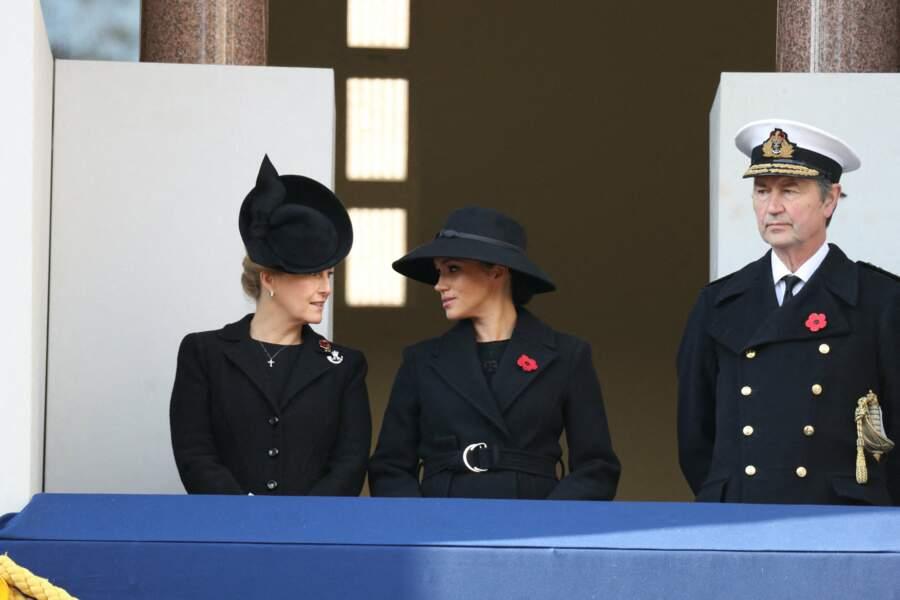 Meghan Markle, Sophie de Wessex et Timothy Laurence le 10 novembre
