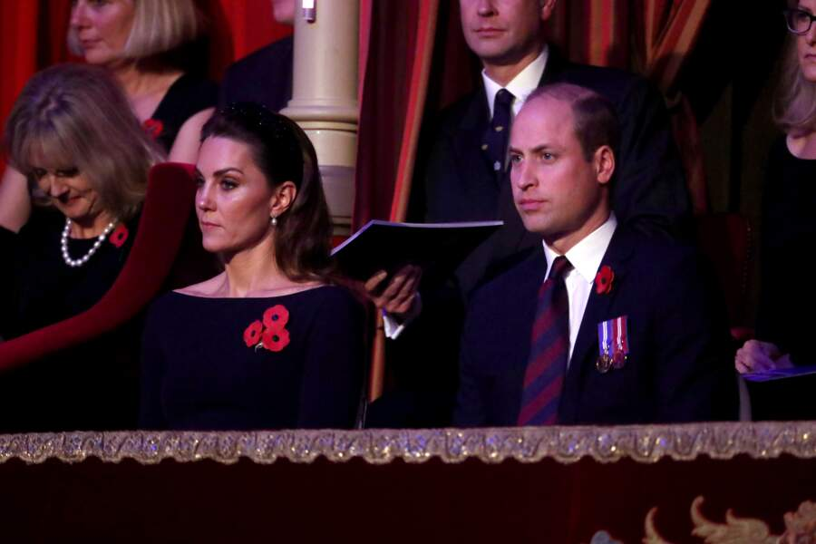 Le couple Cambridge au balcon du Royal Albert Hall