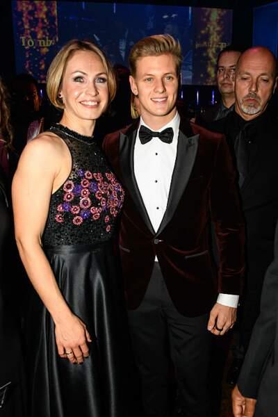 Mick Schumacher en compagnie de Magdalena Neuner