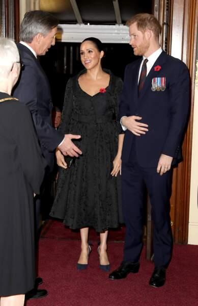 Meghan Markle en robe Erdem, l'une des marques fétiches de Kate Middleton
