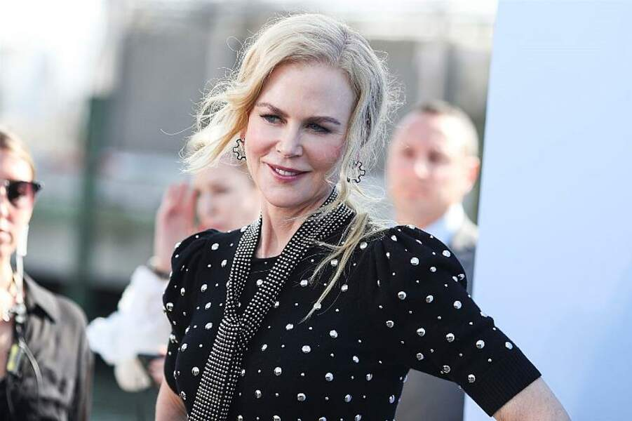 Les mèches blondes et blanches savamment dosées de Nicole Kidman