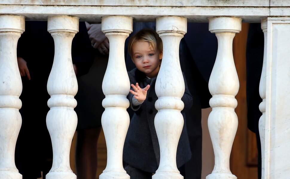 Stefano Casiraghi (fils de Pierre et petit-fils de Caroline), dans la cour du Palais Princier lors de la fête Nationale monégasque à Monaco, le 19 novembre 2018.