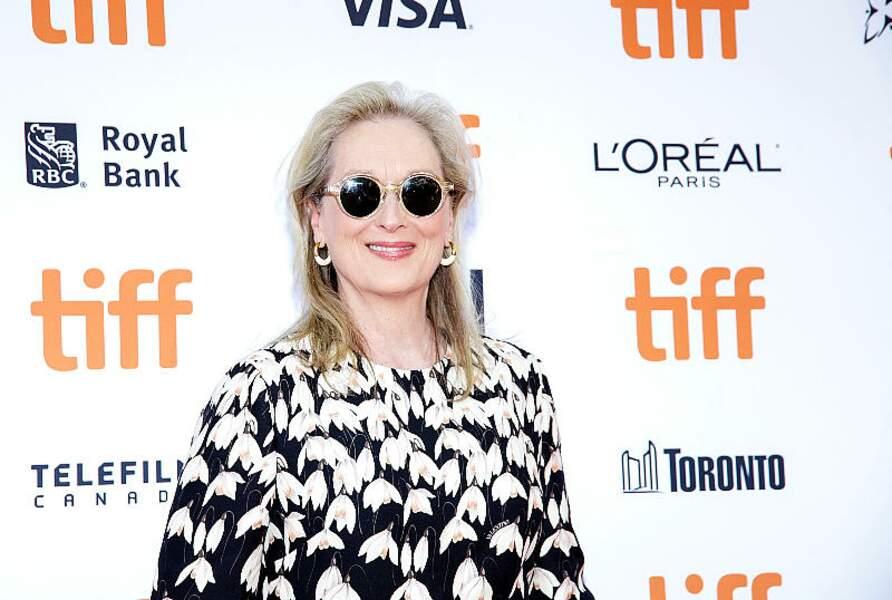 Meryl Streep est passé aux cheveux blancs depuis plusieurs années.