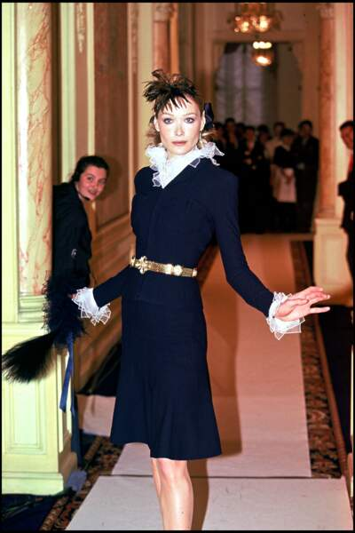 Carla Bruni était à l'époque un des mannequins les plus en vogue.