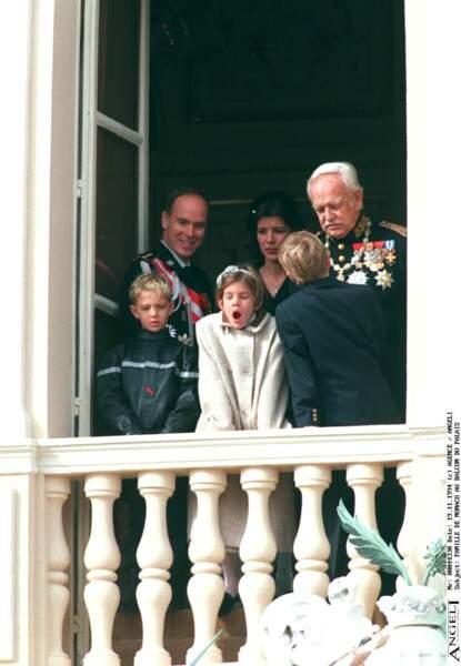 1994 : Charlotte Casiraghi semblait très fatiguée lors de cette journée.