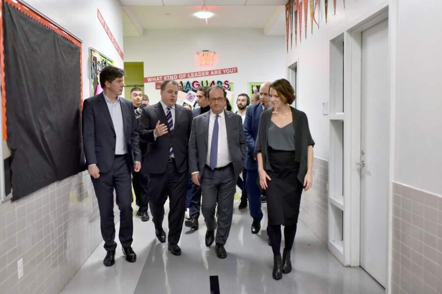 François Hollande à la DREAM Charter School de Harlem