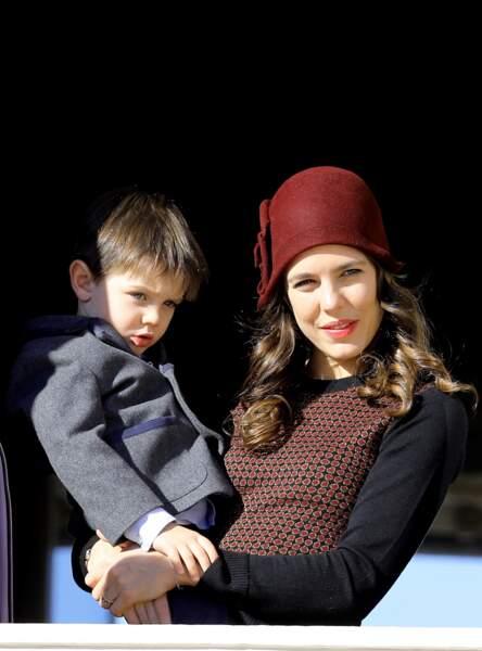 2017 : Charlotte Casiraghi et son fils Raphaël Elmaleh, font une apparition le 19 novembre lors de la fête nationale monégasque, à Monaco.