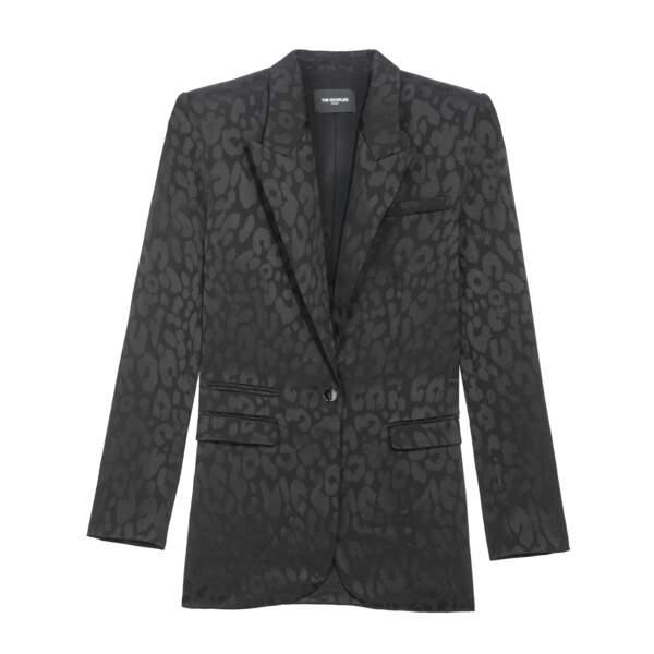 Veste tailleur, effet satiné, 368 €, The Kooples