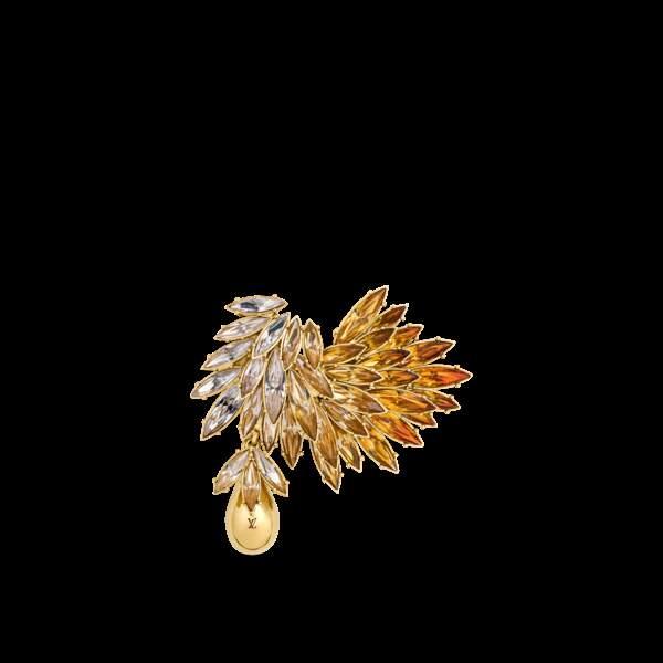 Broche en métal et strass, 375 €, Louis Vuitton