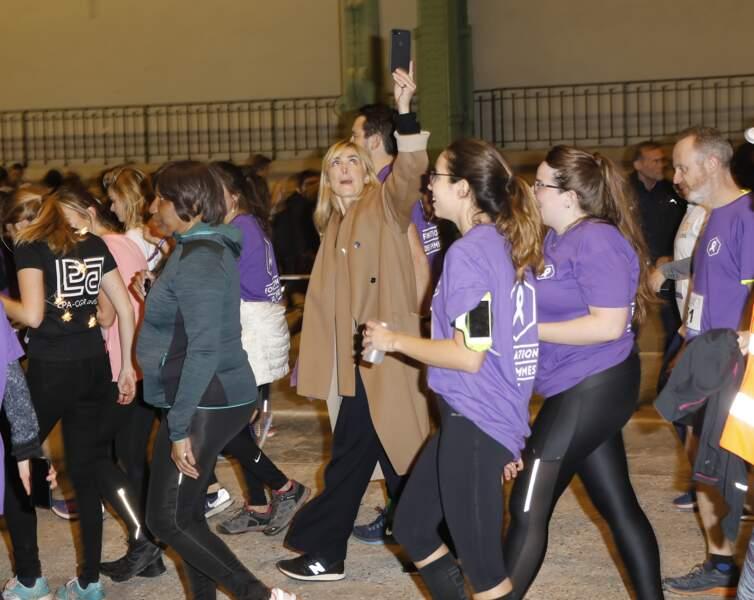 """Julie Gayet en train de courir lors de """"La nuit du Relais""""."""