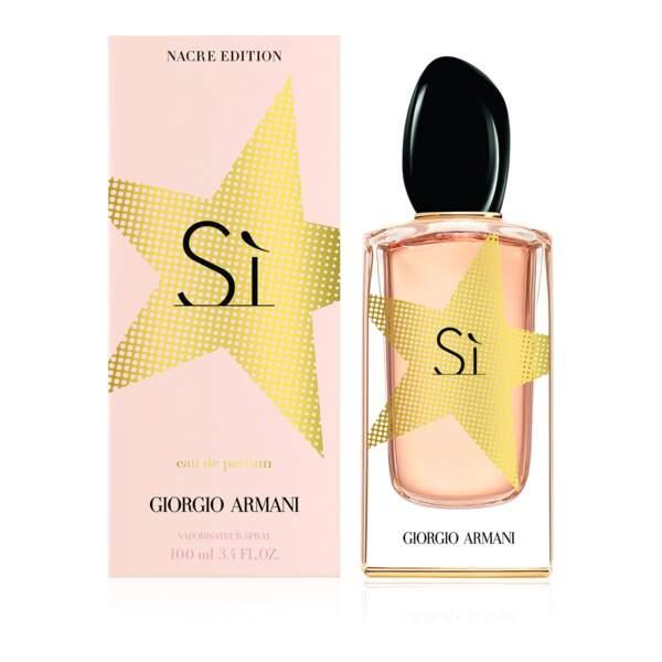 Si Eau de Parfum Nacre Edition, Giorgio Armani, 123€ les 100ml