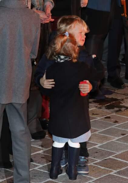 26 janvier 2018 : La princesse Gabriella et le prince Jacques de Monaco, célèbrent et fêtent la traditionnelle soirée de la Sainte Dévote et Sainte Patronne de Monaco. Les deux jumeaux sont très proches l'un de l'autre.