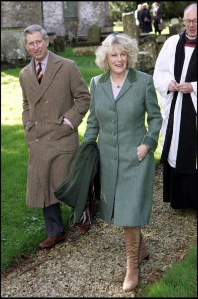 13 février 2005 : Le prince Charles et son épouse Camilla se rendaient à l'église Sainte Laurence, afin de rencontrer le révérend Christopher.